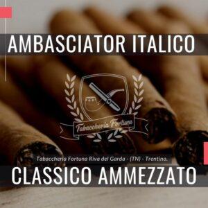 AmbasciatorItalico Classico Ammezzatoè ilPRIMOsigaro prodotto dal Moderno Opificio del Sigaro Italiano.
