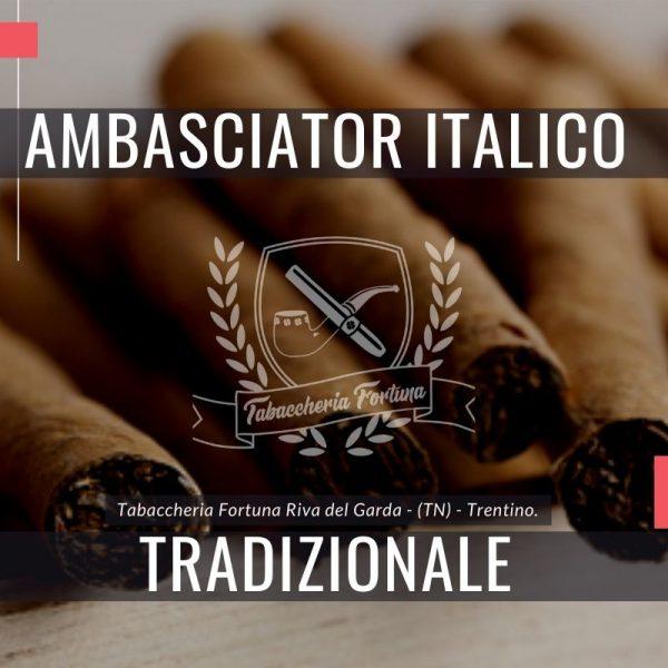 Ambasciator Italico Tradizionale è la massima espressione dello stile MOSI nella realizzazione di un Sigaro Italiano utilizzando solo il miglior tabacco Kentucky nazionale.