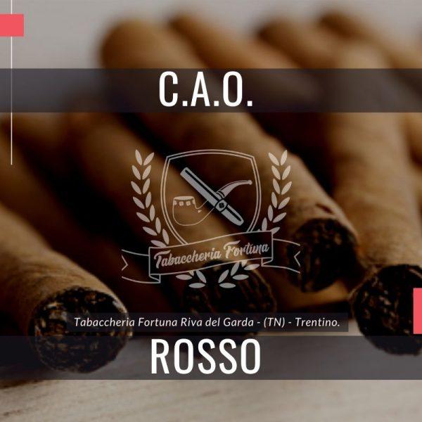 CAO America Rossoè un sigarobitroncoconico aromatizzato al bourbon, fatto a mano, con una selezione di tabacchi nicaraguensi e kentucky