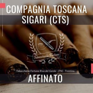 Compagnia Toscana Sigari (CTS) Affinato A crudo si distingue l'ormai netta nota di affumicatura CTS, associata al legno e una punta di pepato.