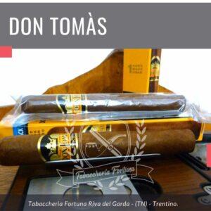 DON TOMAS Clasico RobustoLa fumata si rivelerà corposa e discretamente tonica, tonicità percepibile fin dal primo approccio