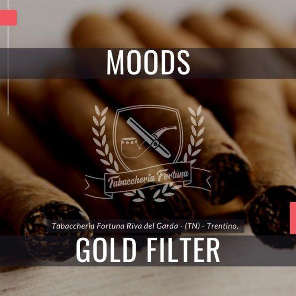 I piacevoli sigaretti di marca Dannemann Moods Gold con filtro sono dei refrigeratori realizzati a macchina.