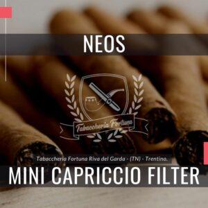 NEOS MINI CAPRICCIO FILTER Sigaretto con filtro, in formato Mini, aromatizzato al cappuccino, di grande qualità e leggerezza.