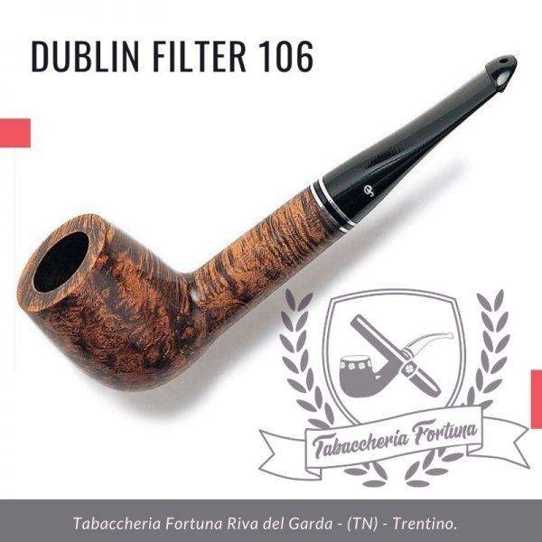 Dublin Filter 106 Peterson Lip. Un biliardo dritto con un gambo allungato per aiutare il raffreddamento dell'esperienza di fumare.