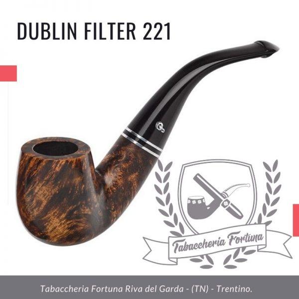 Dublin Filter 221 Peterson Lip. Il 221 è un elegante biliardo piegato con un robusto gambo.