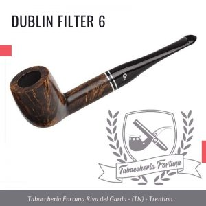 Dublin Filter 6 Peterson Lip. Una classica forma da biliardo rifinita in marrone semi opaco