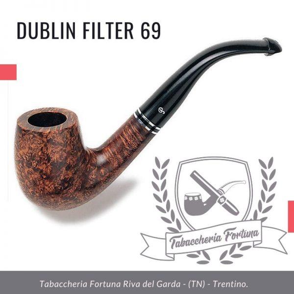 Dublin Filter 69 Peterson Lip. Biliardo curvo dalla linea sottile, rifinito in semi-marrone opaco e montato