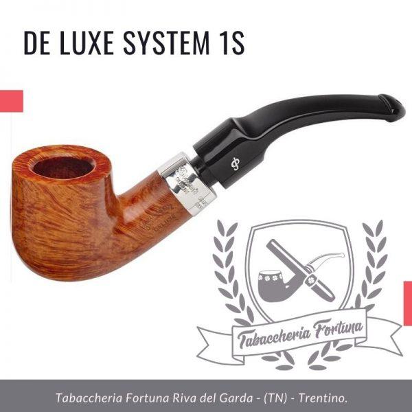 Deluxe System 1S Peterson Lip Una pentola robusta e curva, la 1s offre una camera grande e quindi una piacevole esperienza di fumare grazie alle sue spesse pareti e al gambo tozzo.
