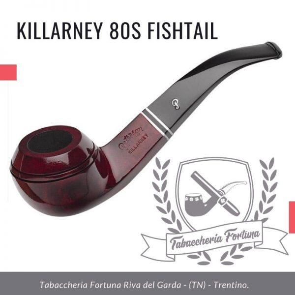 Killarney 80s Fishtail. Un bulldog di medie dimensioni, semi piegato.
