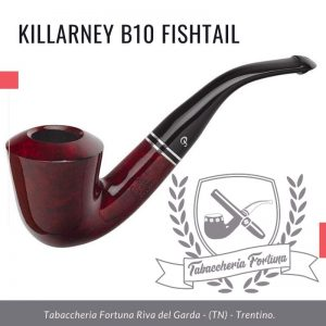 Killarney B10 Fishtail. Con un top a cupola e linee curve, il B10 è un 'ibrido' Peterson di una Dublino piegata e la forma Calabash.