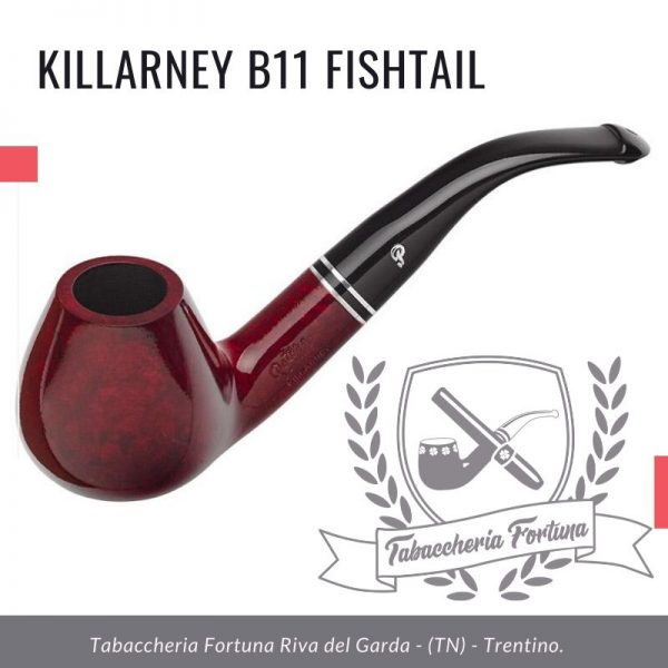 Killarney b11 Fishtail. Una grande ciotola di Brandy piegata con belle linee fluide e una base a fondo piatto